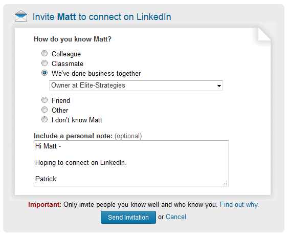 2 linkedin how you are connected