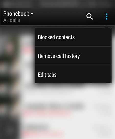delete call log