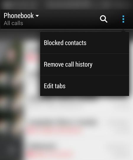 delete call log