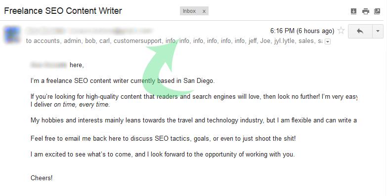 hardcore SEO email marketing fail