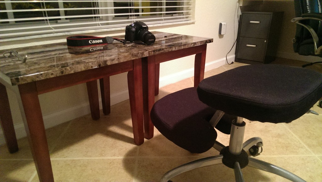 table for tinkering kneeling chair