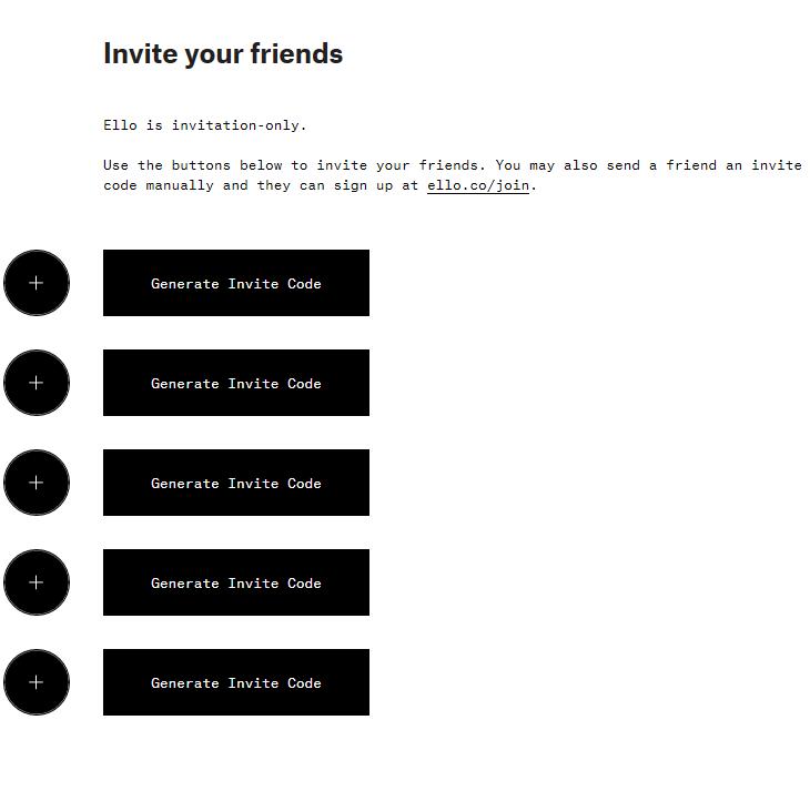 7 ello invite code