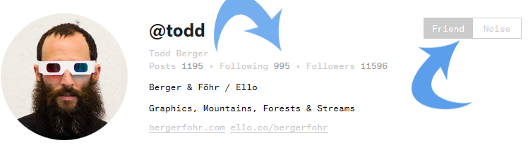 ello followers or friends