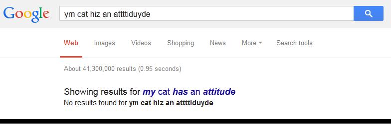 my cat has an attitude