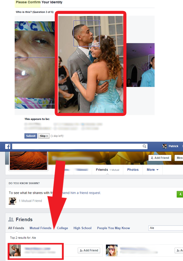 bypassing facebook security
