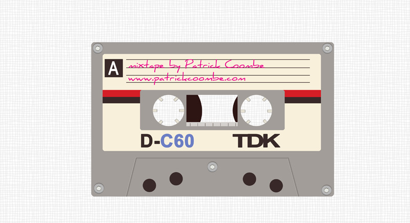mixtape design illustration by patrick coombe web