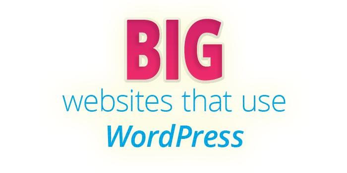 big websites that use WordPress