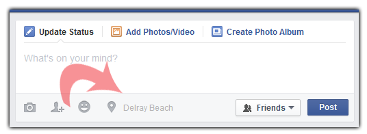 facebook post location disable