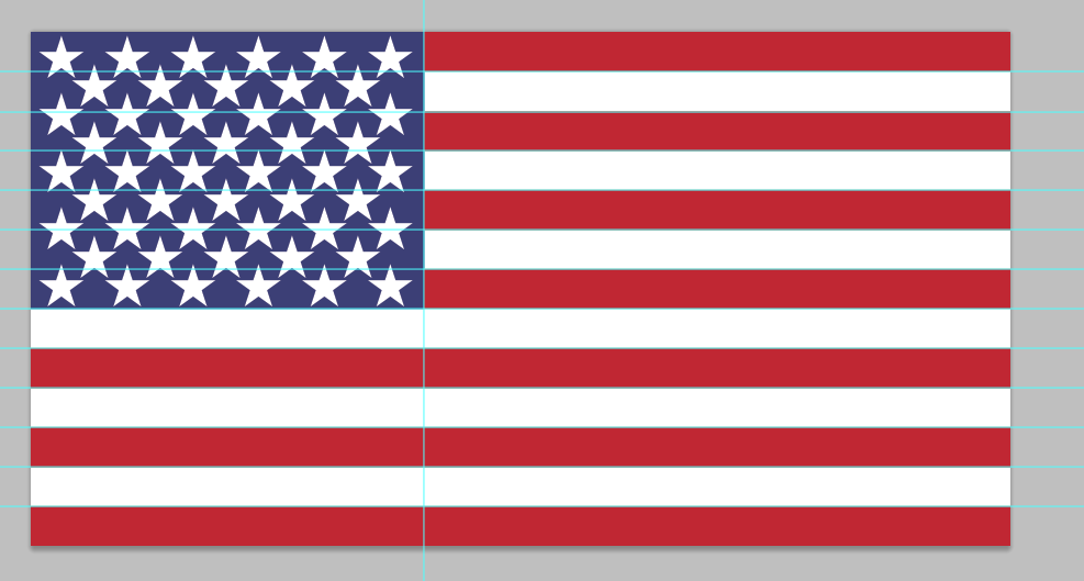 american flag PSD design