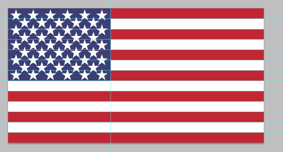 american flag PSD design