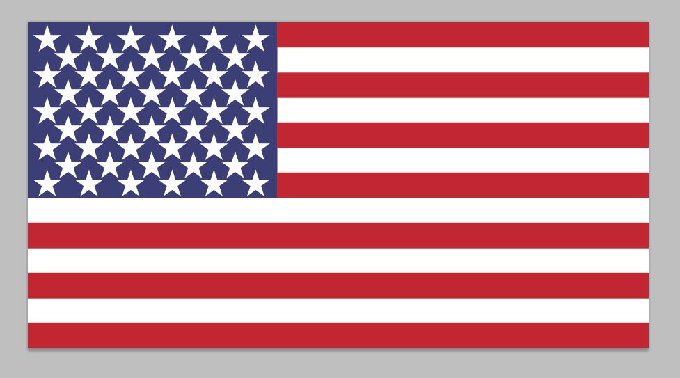 American flag PSD