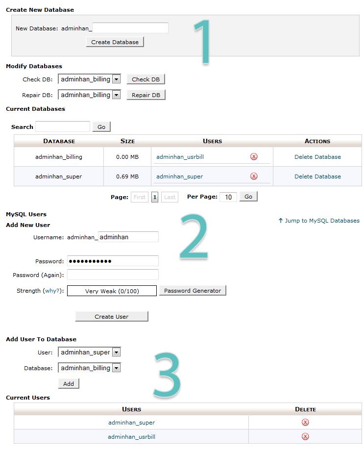 6 create database