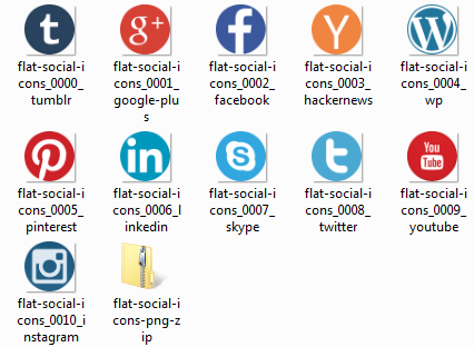 pngs photoshop export social icons