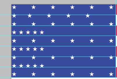 PSD of USA flag in Photoshop