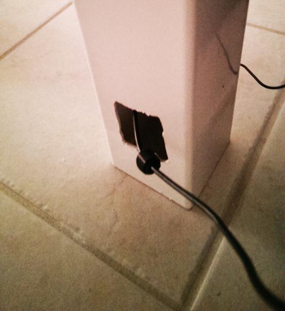 cable management under the desk