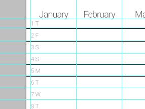 calendar lines