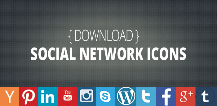 free download flat social media icons