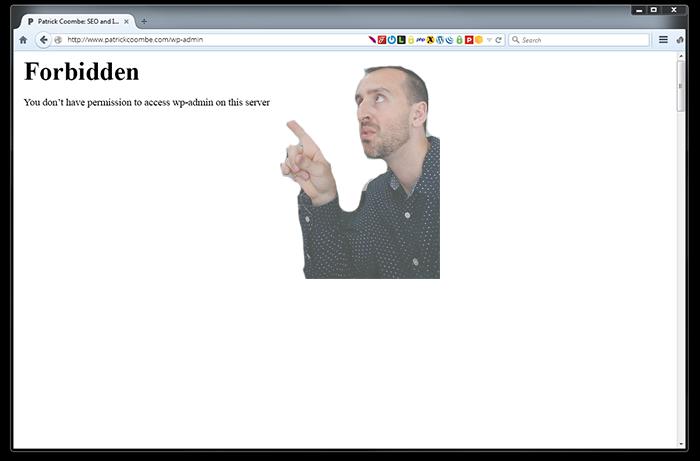 wp admin wordpress forbidden error fix