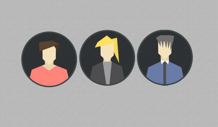 illustration geometric people