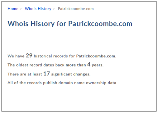 whois history