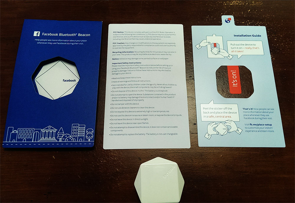Facebook Bluetooth Business Beacon Unboxing