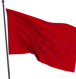 warning red flag scam