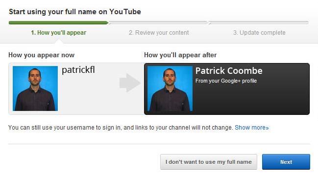 youtube real name