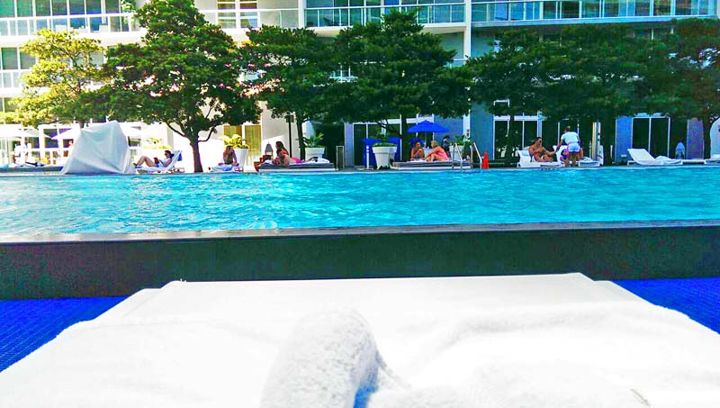 sitting poolside miami
