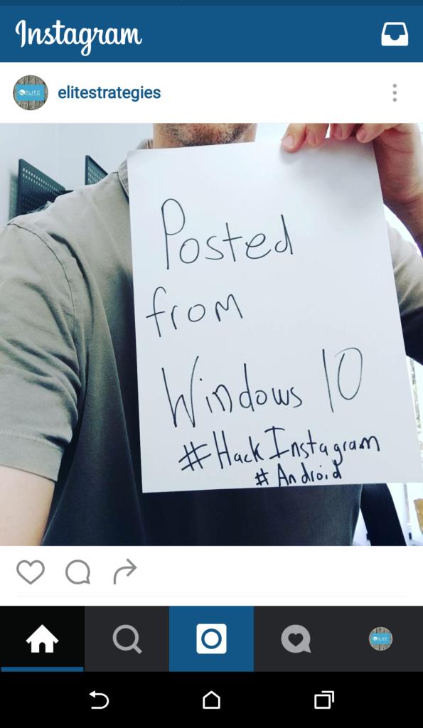 instagram android windows pc desktop