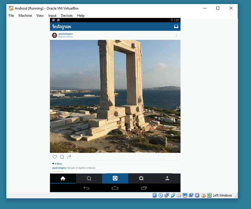 instagram from inside windows